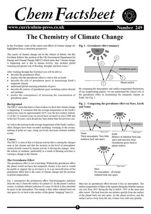 249 The Chemistry Of Climate Change