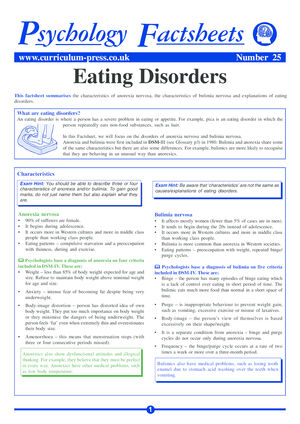 25 Eating Disorders