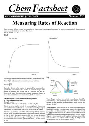 252 Measuring Rates Of Reaction