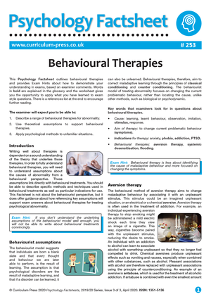 253 Behavioural Therapies