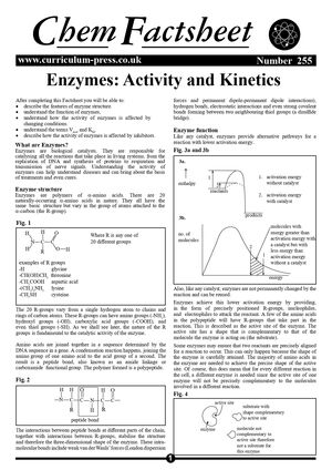 255 Enzymes   Activity And Kinetics