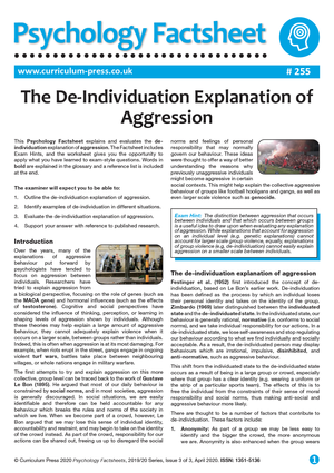 255 The De Individuation Explanation of Aggression