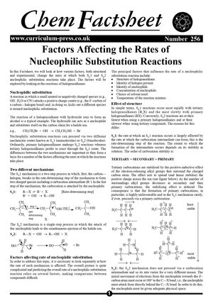 256 Nucleophilic Substitution Reactions   Factors