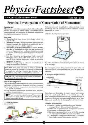 262 Conservation Of Momentum