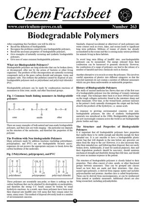 263 Biodegradable Polymers