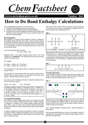 264 How To Do Bond Enthalpy Calculations