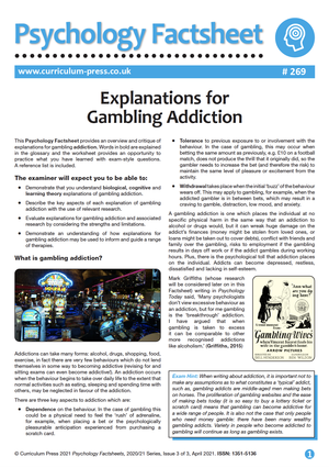 269 Explanations for Gambling Addiction 2