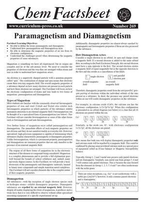 269 Paramagnetism And Diamagnetism