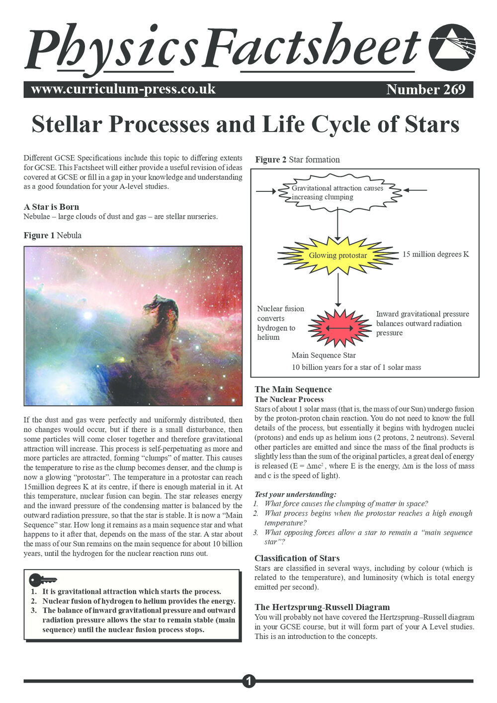 269 Stellar Processes And Life Cycle Of Stars