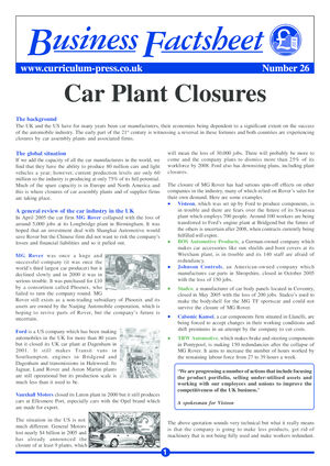 26 Carplant Closures
