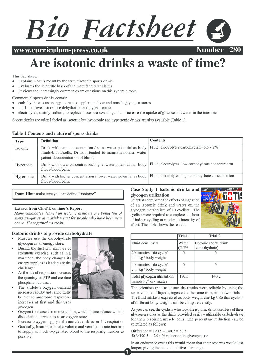 280 Isotonic Drinks