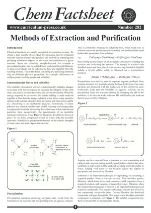 282 Methods Of Extraction And Purification