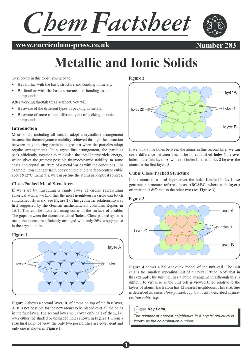 283 Metallic And Ionic Solids