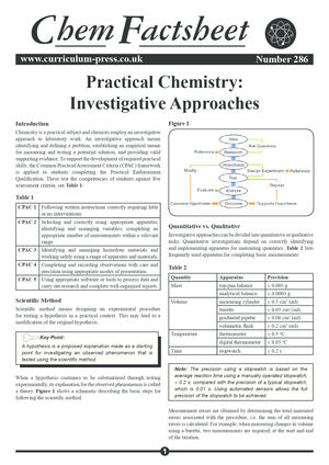 286 Practical Chemistry Investigative Approaches