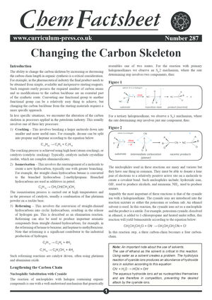287 Changing The Carbon Skeleton