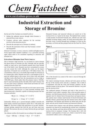294 Industrial Extraction And Storage Of Bromine