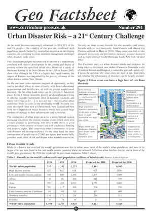294 Urban Disaster Risk