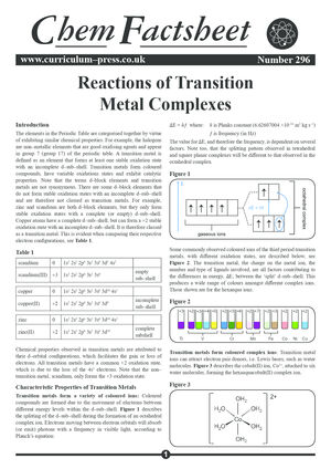 296 Reaction of Transition Metal Complexes v2