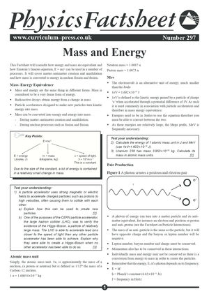 297 Mass And Energy