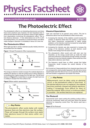300 The Photoelectric Effect