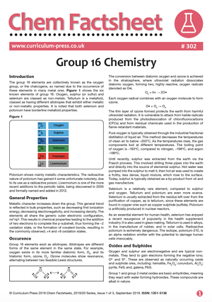 302 Group 16 Chemistry