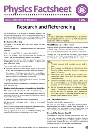 302 Research and Referencing