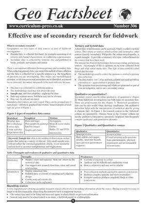 306 Secondary Research