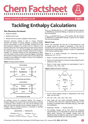307 Tackling Enthalpy Calculations v2