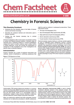 308 Chemistry in Forensic Science v2