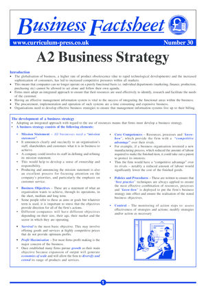 30 A2 Business Strategy