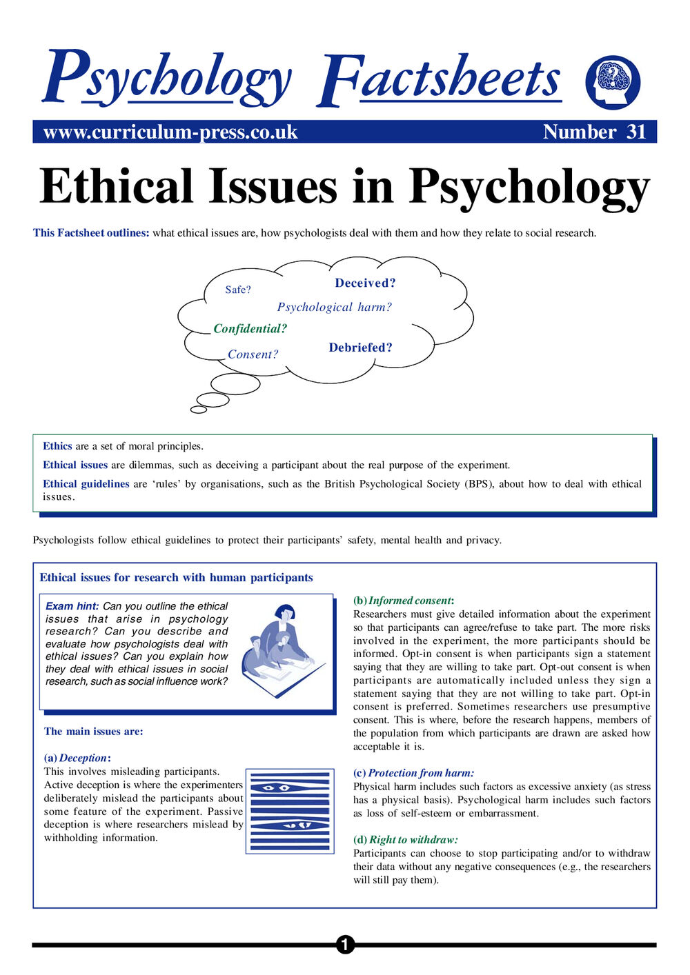 31 Ethical Issues