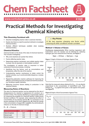310 Practical Methods for Investigating Chemical Kinetics
