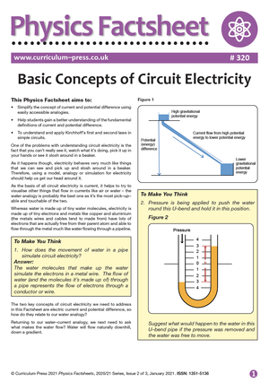320 Basic Concepts of Circuit Electricity