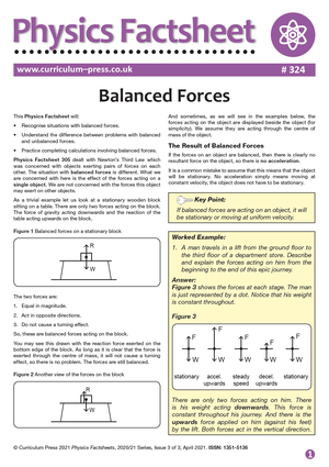 324 Balanced Forces