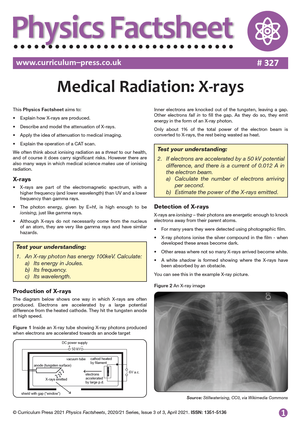 327 Medical Radiation X rays