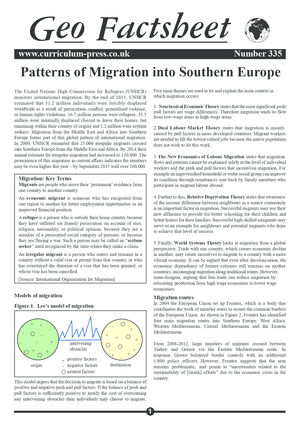 335 Patterns Of Migration Into Southern Europe
