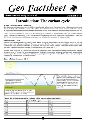 342 Introduction   The Carbon Cycle