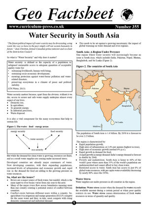 355 Water Security In South Asia