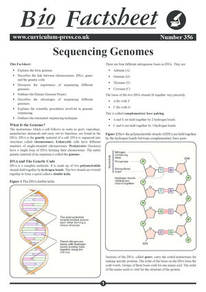 356 Sequencing Genomes