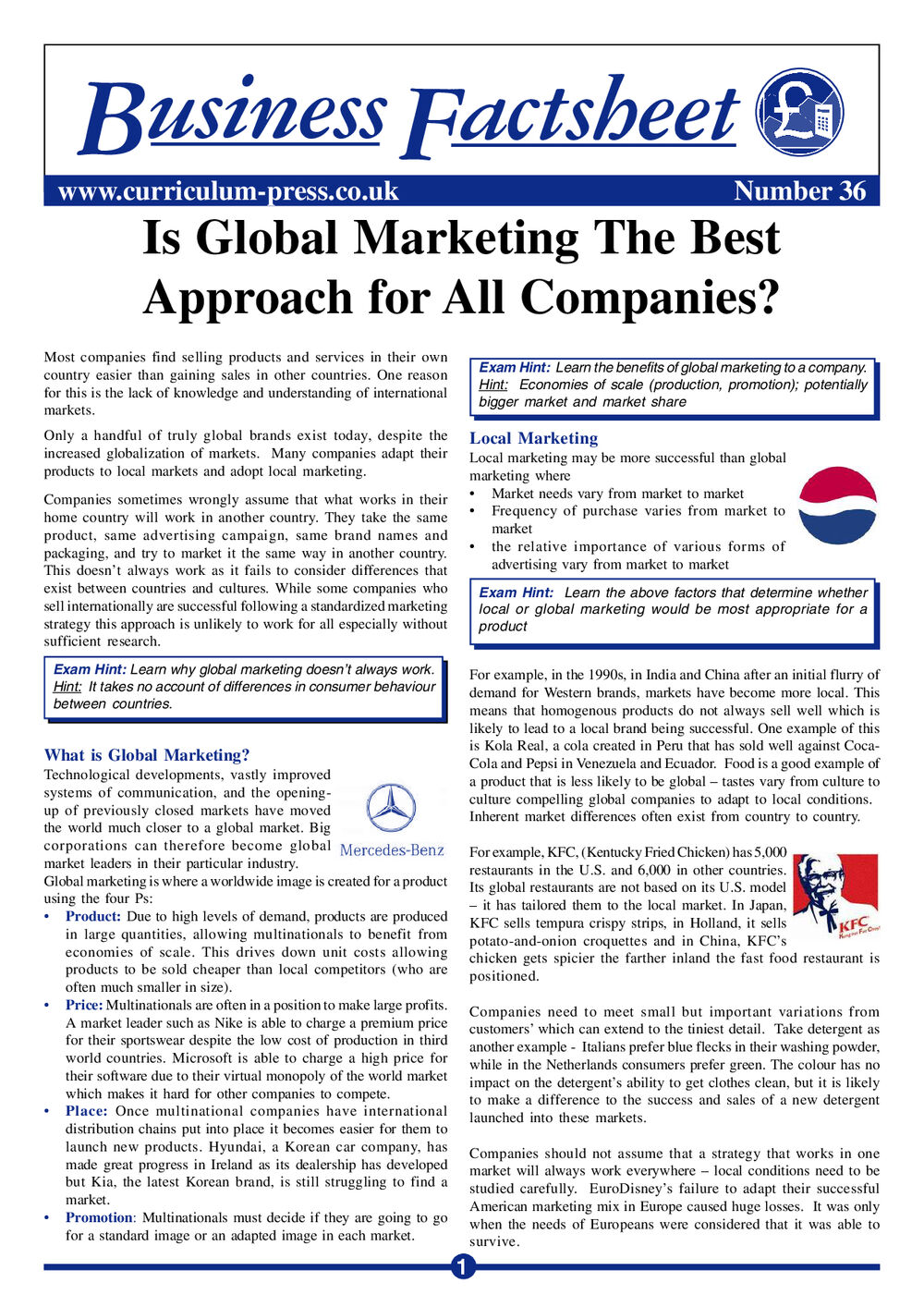 36 Global Marketing