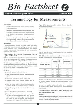 368 Terminology For Measurements