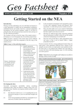 371 Getting Started On The Nea