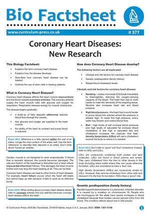 377 Coronary Heart Diseases New Research v2