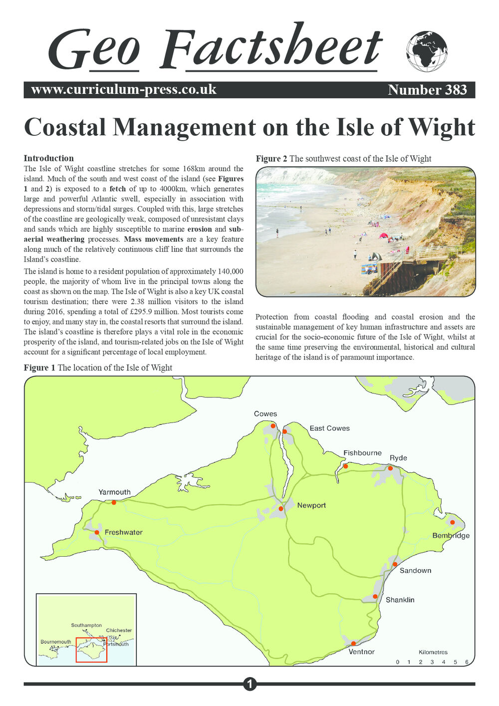 383 Coastal Management On The Isle Of Wight