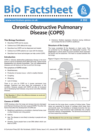 392 Chronic Obstructive Pulmonary Disease COPD