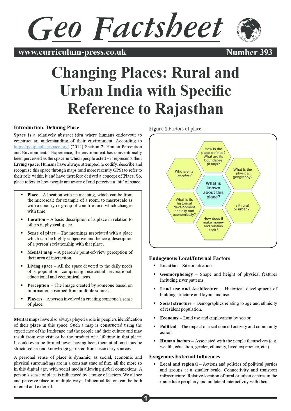 393 Changing Places Rural And Urban India