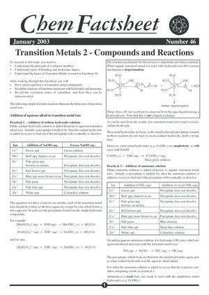 46 Transition Metals Comp React