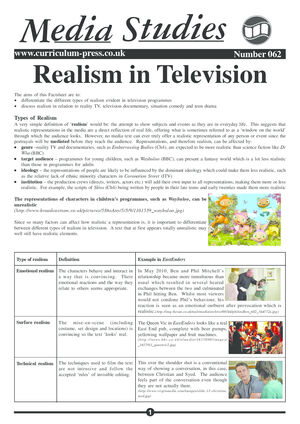 62 Realism In Tv
