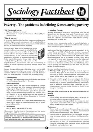 71 Defining Poverty