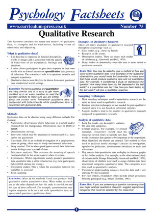 75 Qualitative Research